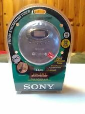 Sony D-FJ61 CD Walkman with AM/FM Synthesized Tuner G-Protection ~ New ~ Sealed
