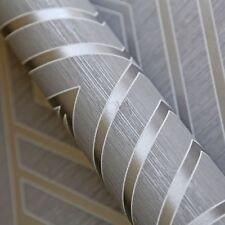 Papier peint Géométrique Gris/ARGENT - POIRE ARBRE Studios uk30507 Metalique