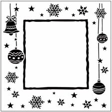 * PORTA CRAFT * Embossing Folders Square (140*140mm) Christmas Happy Frame