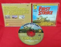 First Strike Hot Gulf War Action PC Game Disc, Case - Near Mint Discs CD Rom Dos