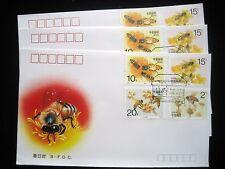 China - Bees FDC x 3