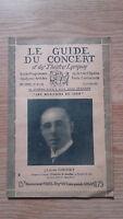 El Guía de La Concierto Y Las Teatro Letra - Lazare Saminsky - N º 32-1928