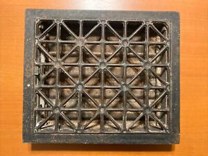 Antique 14X12 Steel Louvered Heating Vent Grate Heat Columbian Hardware Co 1904