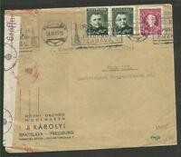 SLOVENIA TO GERMANY, NAZI Censored Cover 1941, DE LIXE!