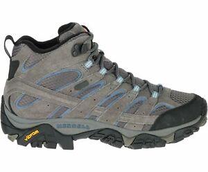 Merrell Women's Moab 2 Mid Waterproof Hiking Boots, Granite J06054 - Choose Size