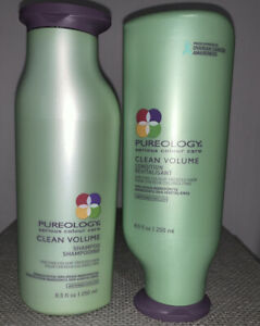 Pureology Clean Volume Shampoo & Conditioner 8 Oz. Each Bottle (Bundle Is 2) New