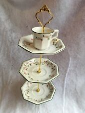 Johnson Brothers Eternal Beau Biscuit Cake Stand Tea Cup Saucer Handmade