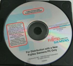Vintage fujitsu Siemens Product recovery PC Computer Installation software discs