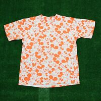 VTG 90s Mickey Mouse Disney All Over Print Orange Character T Shirt Men's Large