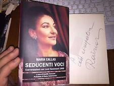 MARIA CALLAS SEDUCENTI VOCI con DEDICA AUTOGRAFA di RAINA KUBAIVANSKA !!! raro