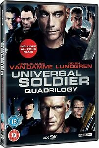 UNIVERSAL SOLDIER QUADRILOGY  Jean Claude Van Damme DVD Region 2 New & Sealed