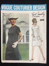 Vintage Vogue Couturier Pattern Sybil Connolly of Dublin 2006 Dress Cut Size 10