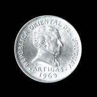 URUGUAY 50 CENTESIMOS COIN 1965 - EXCELLENT SHINY LUSTROUS UNC COIN