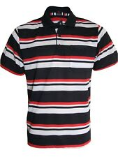 Men's Striped T-shirts Loose Fit Pique Polo Polycotton 1902 Tops Casual M to 5xl Black 3xl