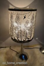 2018 NEW Christmas gifts  Bedside Table 3 level Touch Lamp Forest bird  47CM
