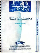 Allis Chalmers U Tractor Service Repair Manual With Ac Engine