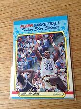 Karl Malone 1980s NBA basketball trading card