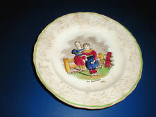 Early Victorian English Staffordshire  Children MY BROTHER Plate  1850 (loc-23A)