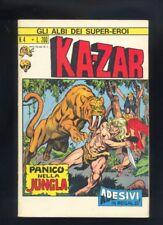 Gli albi dei Super Eroi n. 4 Kazar Ed Corno 1973 originale non di resa   R