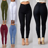 Women Lady Pencil High Waist Jeans Stretch Casual Denim Skinny Pants Trousers US