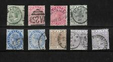 Malta, 1885 QV definitives, complete set with shades, used (M438)