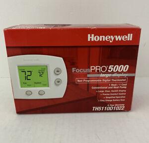 Honeywell Home TH5110D1022 FocusPRO 5000 Premier White Heating - Premier White