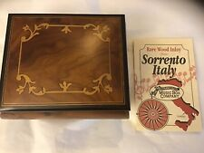 New ListingThe San Francisco Music Box Co With Papers Wood Inlay, Sorrento Italy
