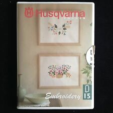 Husqvarna Viking Flower Romance Embroidery Card 15 for #1+ Rose Iris Scandinavia