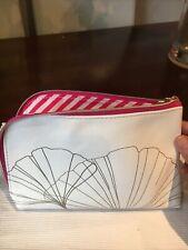 NEW SISLEY WHITE/GOLD/PINK MAKE UP BAG