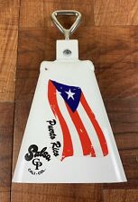 Cha Cha Cowbell Painted With Puerto Rico Flag Design Sticker. Cp#1