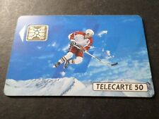 TELECARTE 50 FRANCE SPORT, SKI HOCKEY GLACE ALBERTVILLE, USAGEE, PHONE CARD