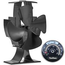 VonHaus 4 Blade Stove Fan - Eco Heat Powered for Wood/Log Burner