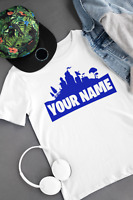 Personalised Kids Fortnite Fortnight T-shirt - Any Colour and Name