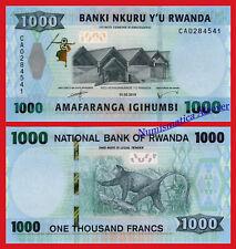 RUANDA RWANDA 1000 Francos francs 2019 Pick New SC / UNC