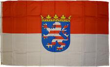 XXL Flagge Hessen 250 x 150 cm Wappen Hissflagge Fahne 2,5 x 1,5 m Bundesland