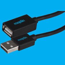 Maplin USB 2.0 A à Une Extension 3M Noir et Bleu Trois Mètres