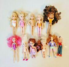 11 Piece Lot Small Dolls Chelsea, Tcfc Hasbro, Disney, Newlifier, Unbranded