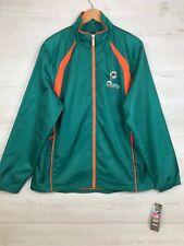 Reebok NFL Miami Dolphins Full Zip Light Weight Coach jacket, Men's Sz Medium