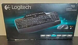 Logitech - Wireless Desktop MK710 Keyboard and Mouse - Black New