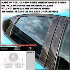 FITS ACURA TL 2004-08 REAL BLACK CARBON FIBER WINDOW PILLAR POSTS - 6 PCS
