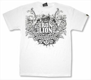 Zion Rootswear Ornament Iron Lion White T Shirt New Tribe of Judah