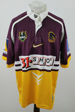 More details for nike nrl broncos brisbane 200-01 rugby jersey size l