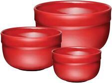 Emile Henry Ceramic Mixing Bowl Set (3pc) - Burgundy
