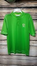 2012 US Ryder Cup Tournament Size Medium Sleeve Collared Golf Shirt Neon Green