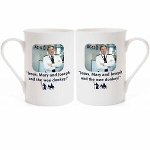 """Jesus, Mary & Joseph & The Wee Donkey Adrian Dunbar Line of Duty Porcelain Mug"