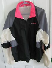 NIKE Men's Jacket Windbreaker Coat Large Black Nylon Lined
