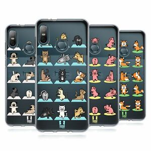 HEAD CASE DESIGNS YOGA ANIMALS SOFT GEL CASE & WALLPAPER FOR HTC PHONES 1