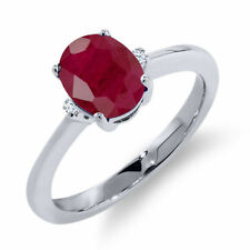 Ruby Not Enhanced Sterling Silver Fine Jewellery
