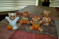 Home Interiors Set of 4 Halloween Bears #5311 with original Box ~ Super Cute Set