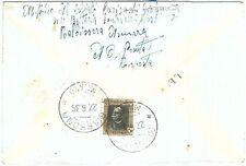 71989 - AOI ERITREA - Storia Postale: BUSTA per BIASSONO annullata in ARRIVO!